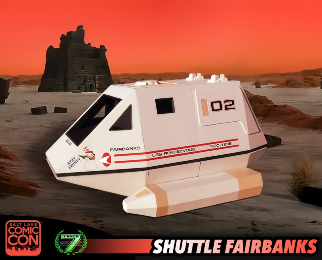 Come see the Shuttle Fairbanks and our Action Figure Box at Salt Lake Comic Con boot #3301 as a fundraiser for the Cache Valley Children's Justice Center.