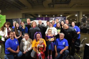 Some of the Seventh Fleet volunteers at the end of Salt Lake Comic Con 2015.