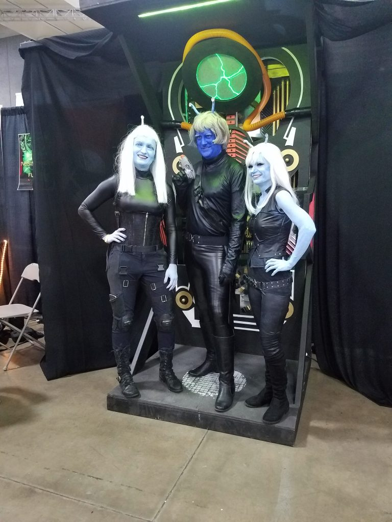 Andorian cosplayers