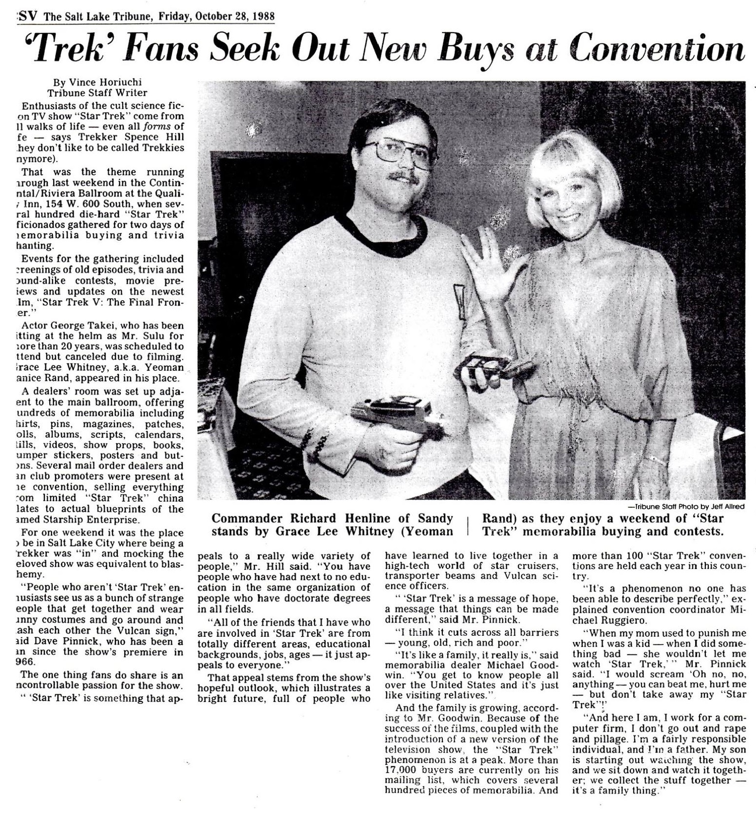 1988 Star Trek Convention in Salt Lake City