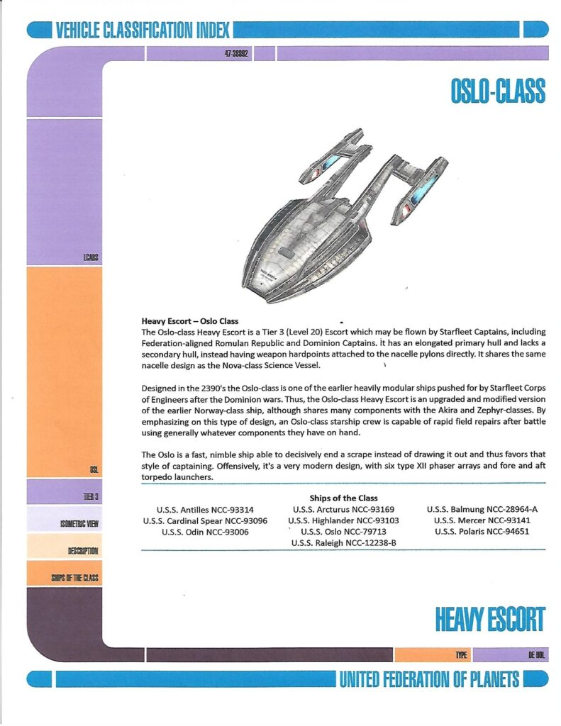Oslo-Class Starship page 1